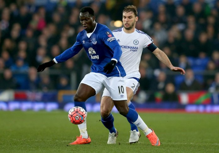 Lukaku in action against his former club