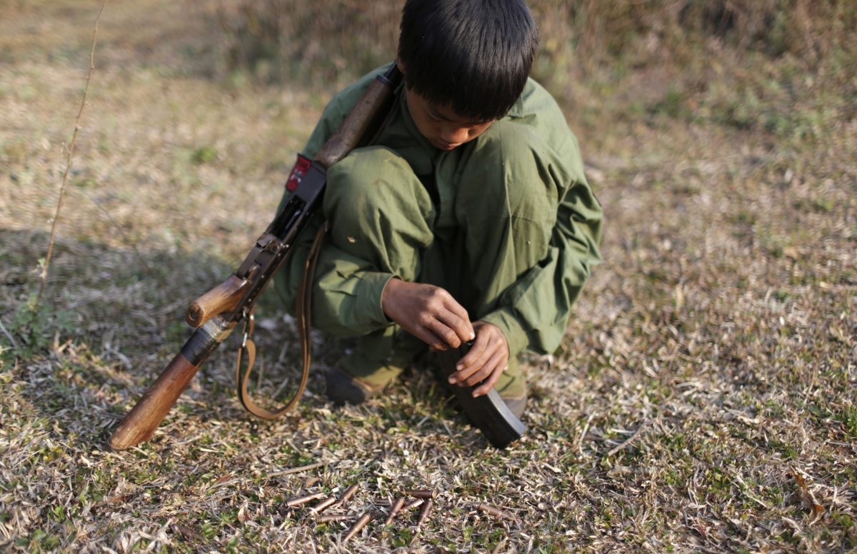Myanmar child soldiers