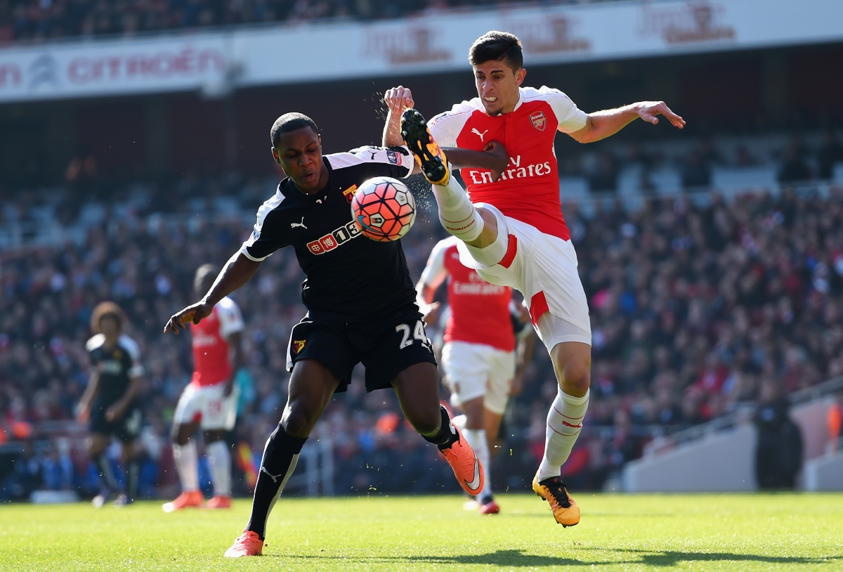Gabriel in action at the Emirates