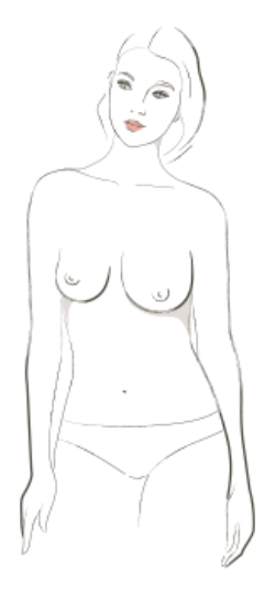 bra measuring boob shapes
