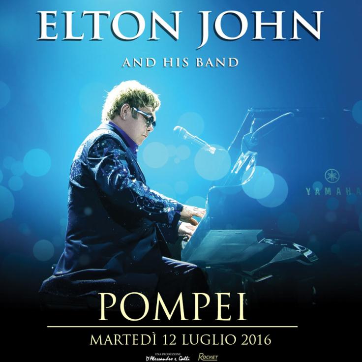 Elton John Pompeii concert