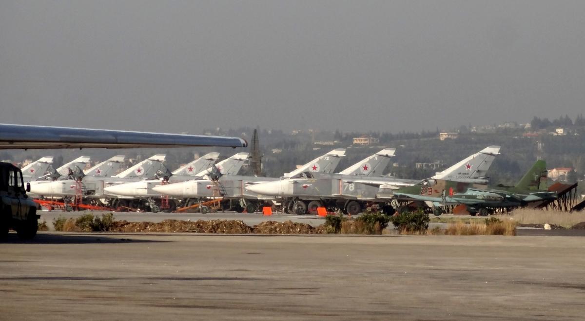 Hmeimim military base in Latakia province