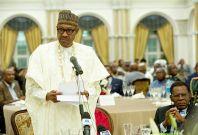 Nigeria\'s president Muhammadu Buhari in Guinea