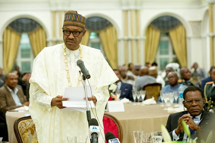 Nigeria's president Muhammadu Buhari in Guinea