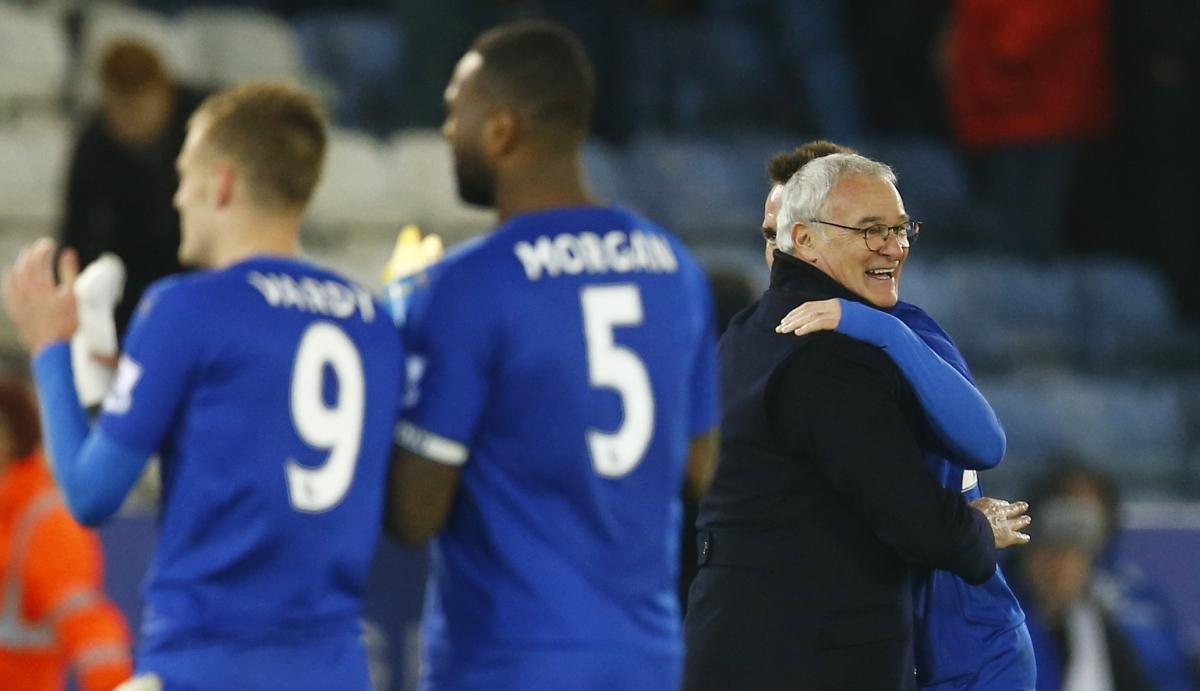 Claudio Ranieri celebrates