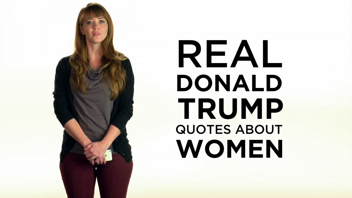 Anti-Trump Video Shows Women Reading Republican Frontrunners Most Sexist Quotes-8581