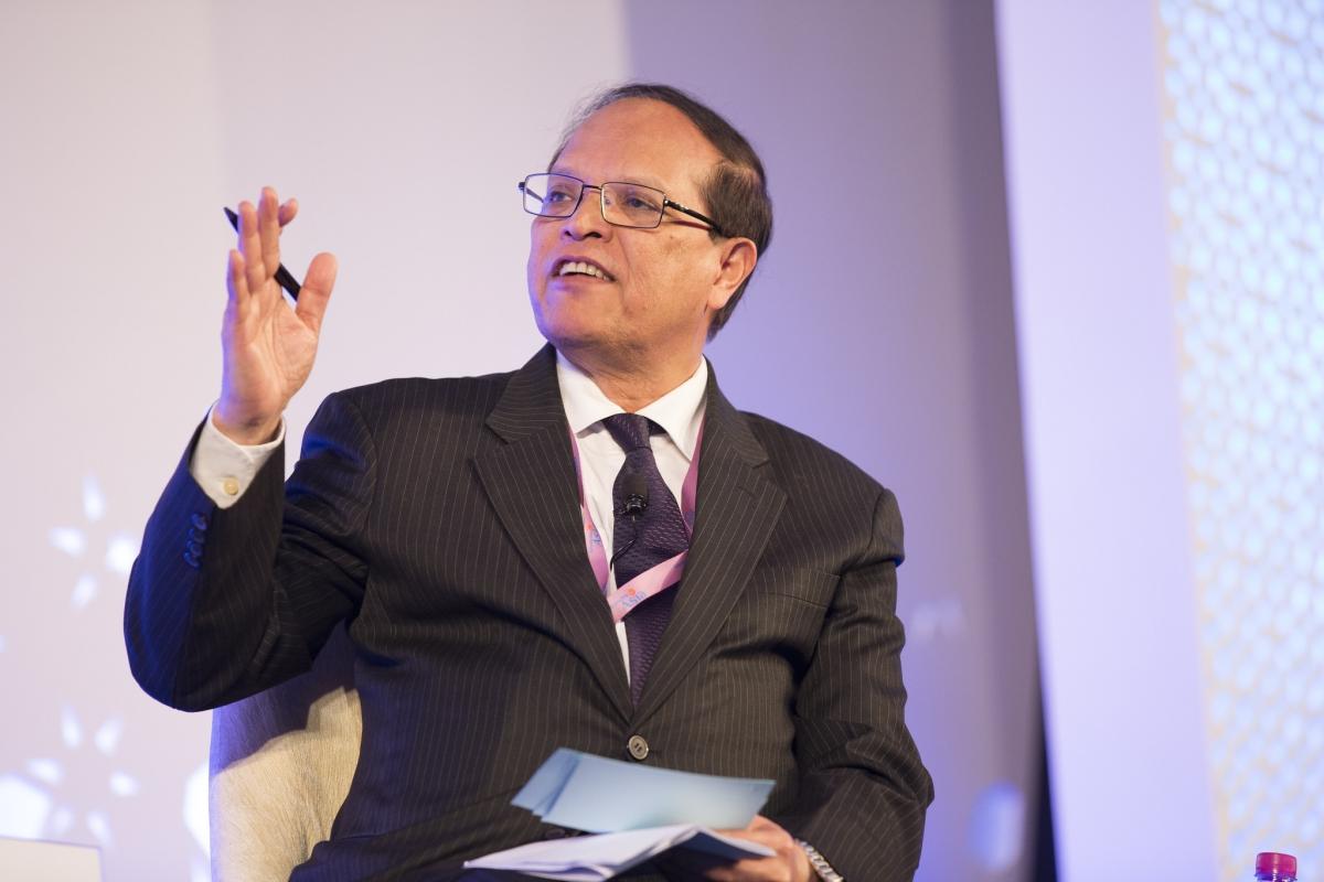 Atiur Rahman speaking at an IMF conference