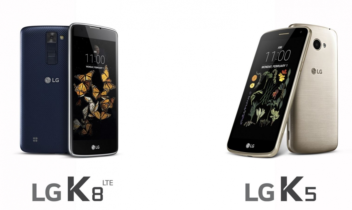 LG announces K8 and K5 smartphone