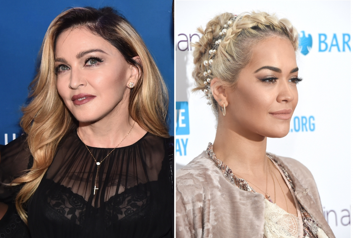 Madonna and Rita Ora