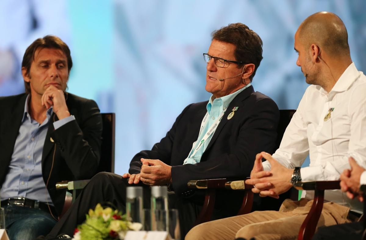 Antonio Conte (left) and Fabio Capello