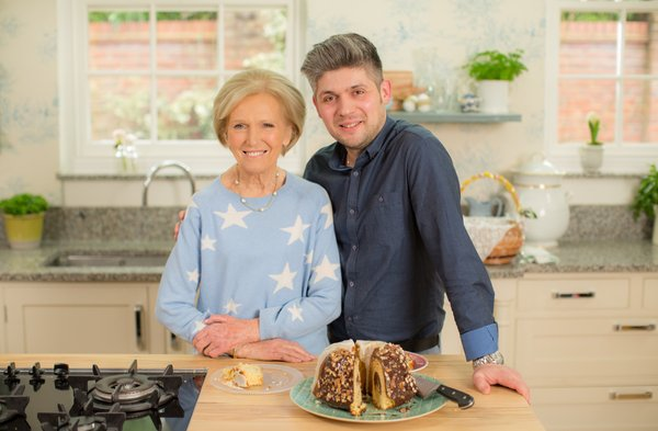 Mary Berry with Damian Wawrzyniak
