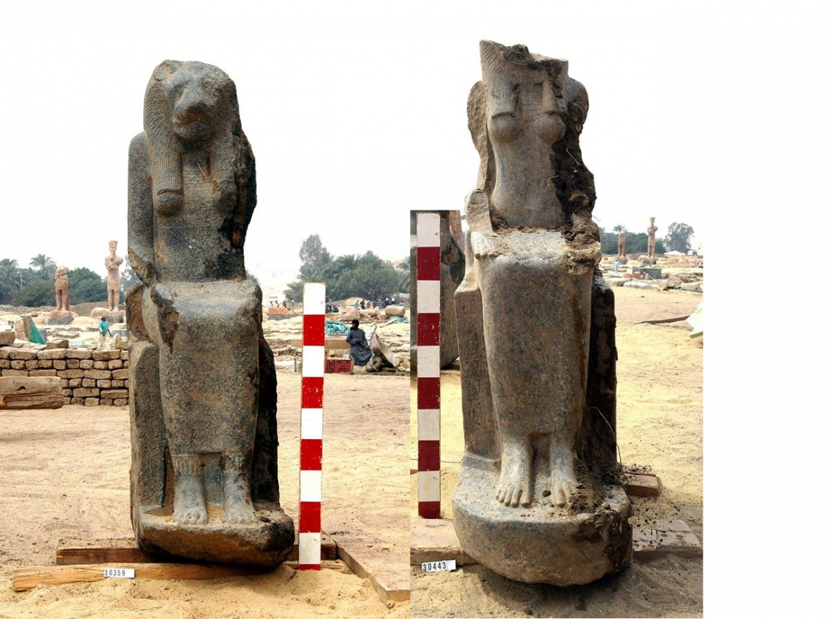Ancient Egypt statues goddess Sekhmet