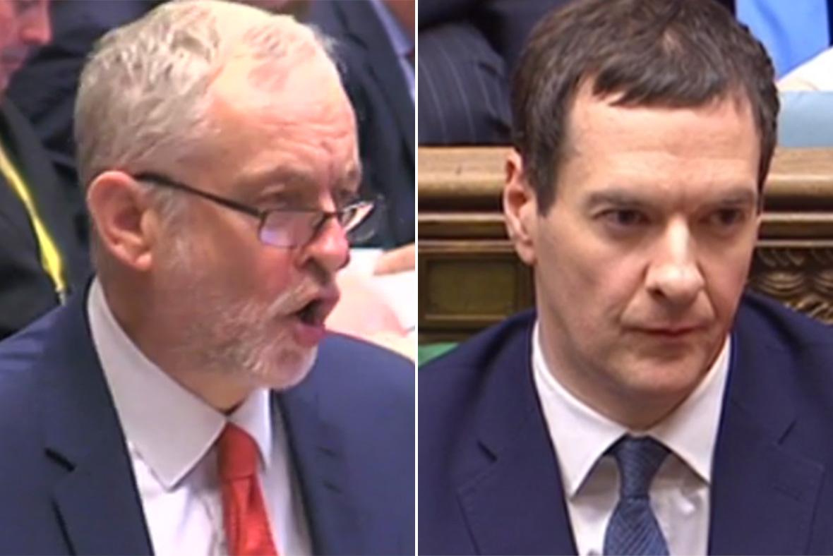 Budget 2016 Corbyn Osborne