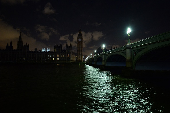 Earth hour in London last year