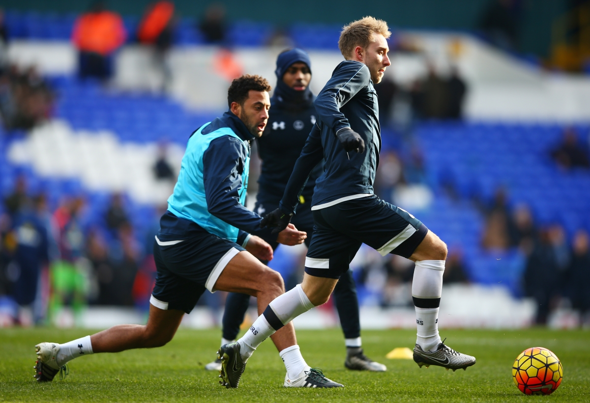 Christian Eriksen and Mousa Dembele