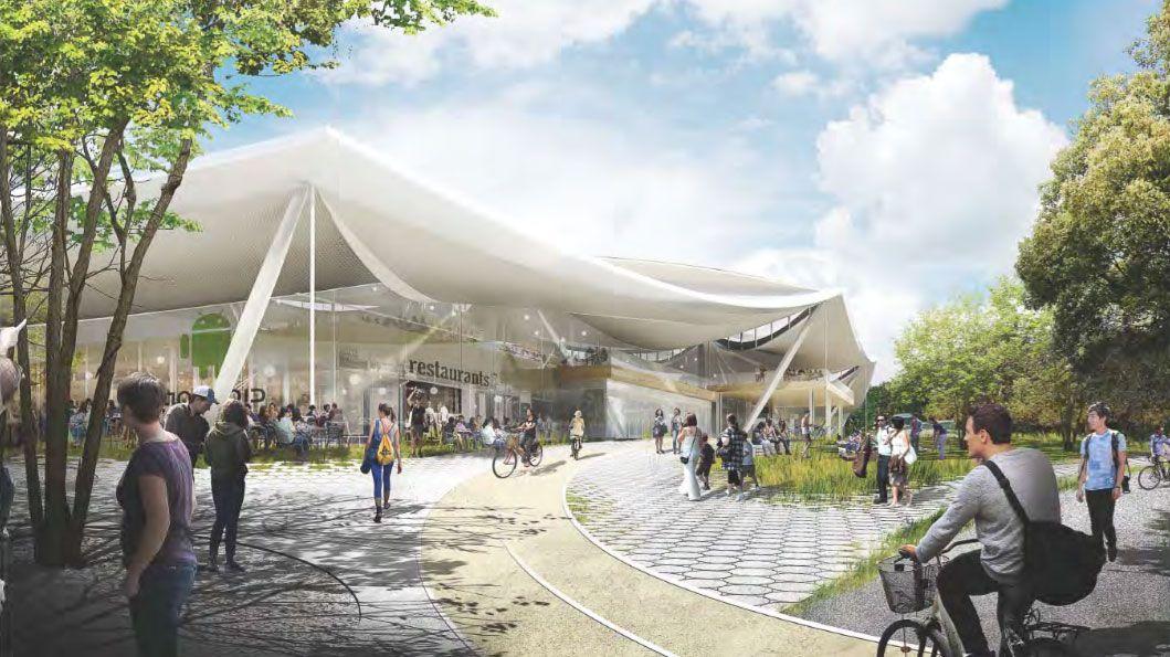 Futuristic New Google Campus Charleston East To Be Draped