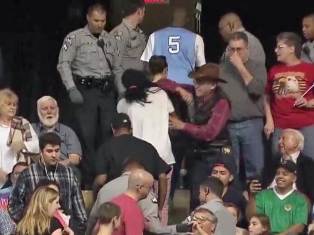 Trump rally confrontation in North Carolina