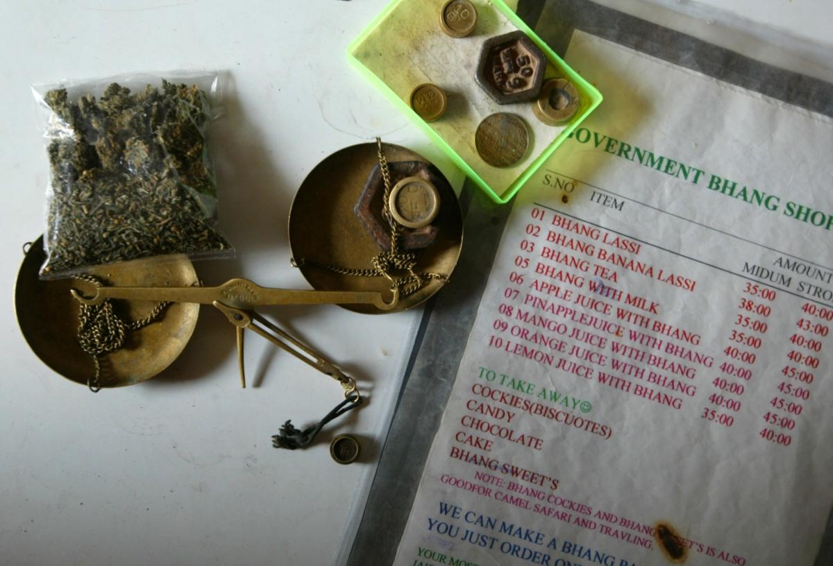 Bhang shop menu India