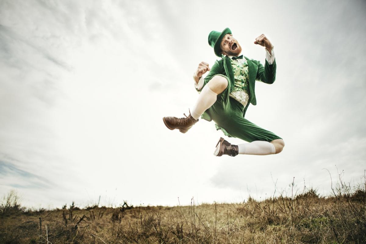 leprechaun jumping
