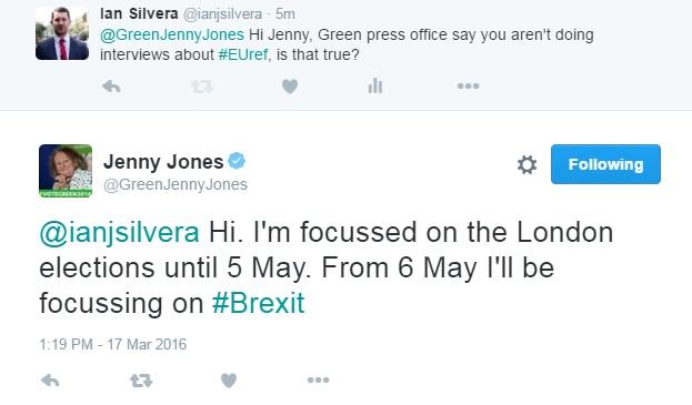 Jenny Jones tweets IBTimes UK