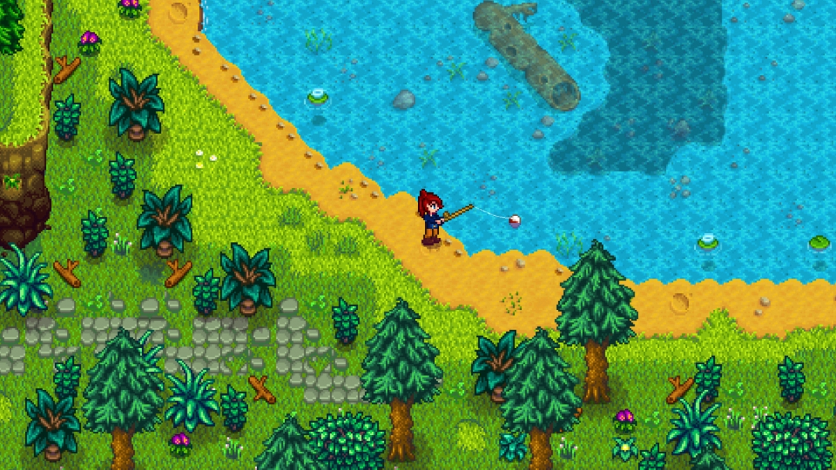 Stardew Valley Fishing Beach
