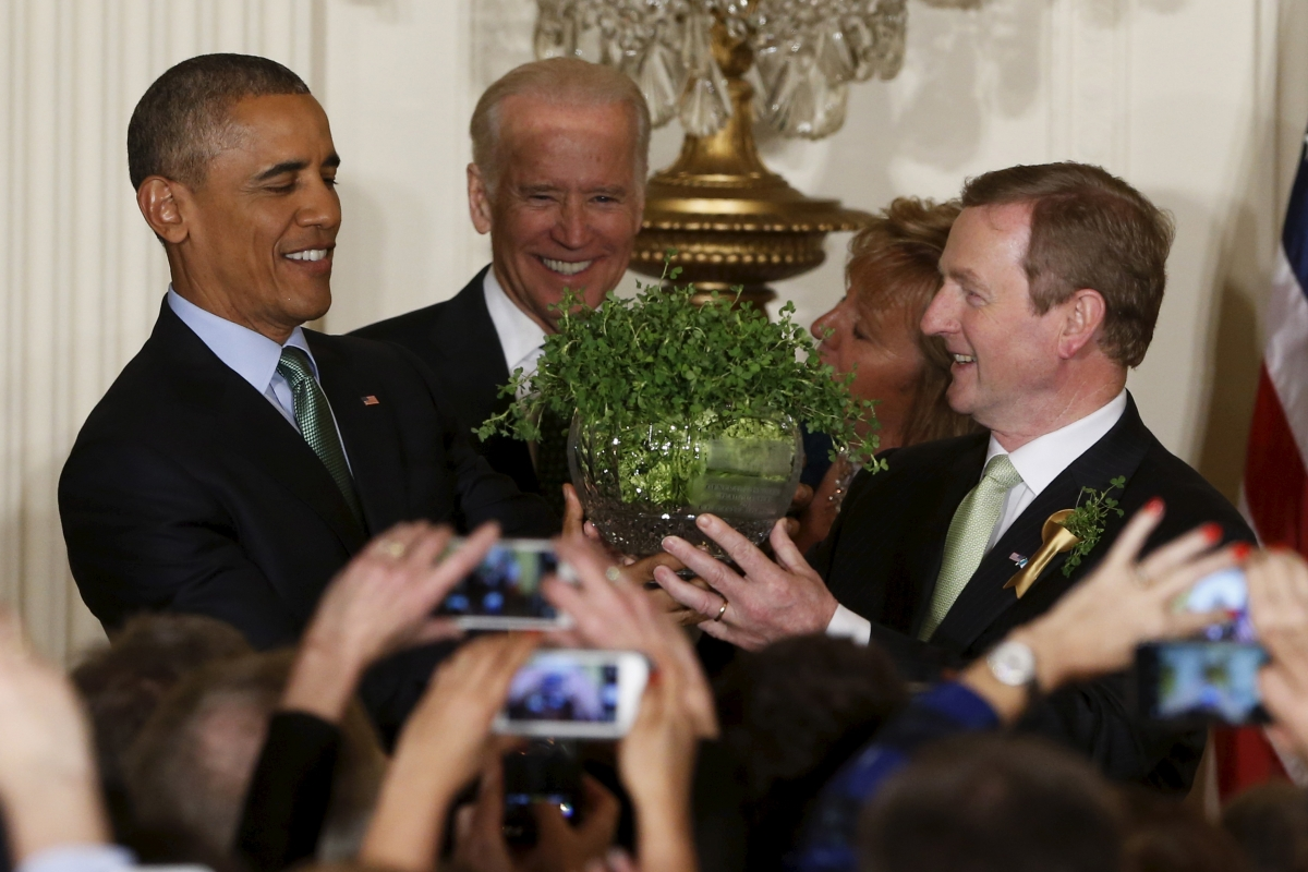obama enda kenny st patricks day