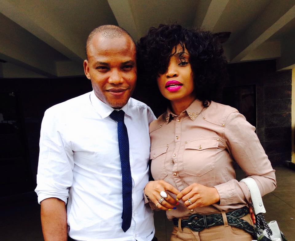 Nnamdi Kanu and his wife Uchechi