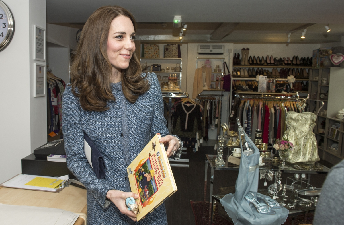 Kate Middleton Opens Charity Shop In Norfolk And Buys Presents For Prince George And Princess