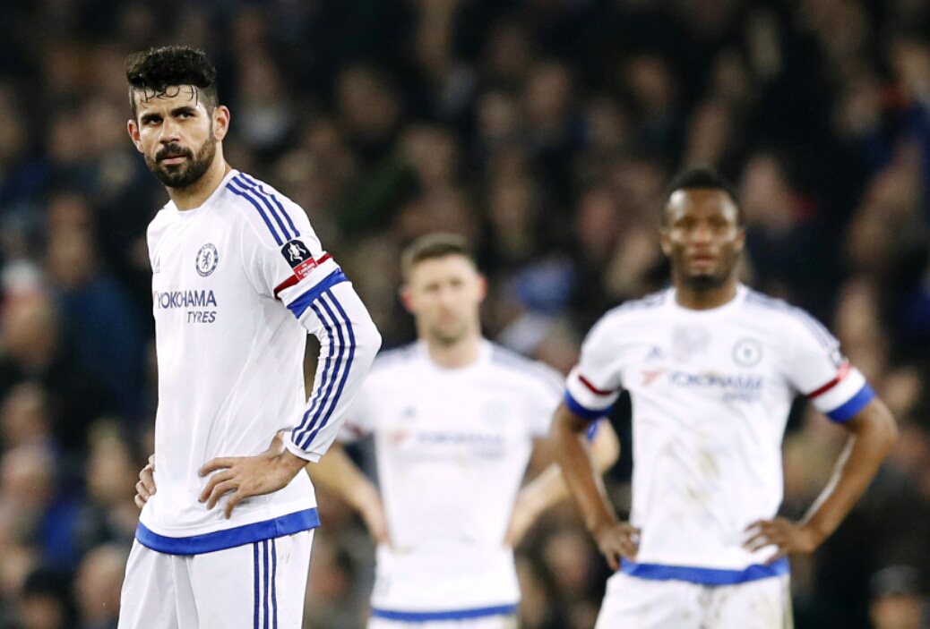 Diego Costa dejected