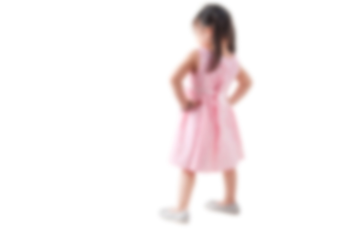 Blurred out image of a young girl