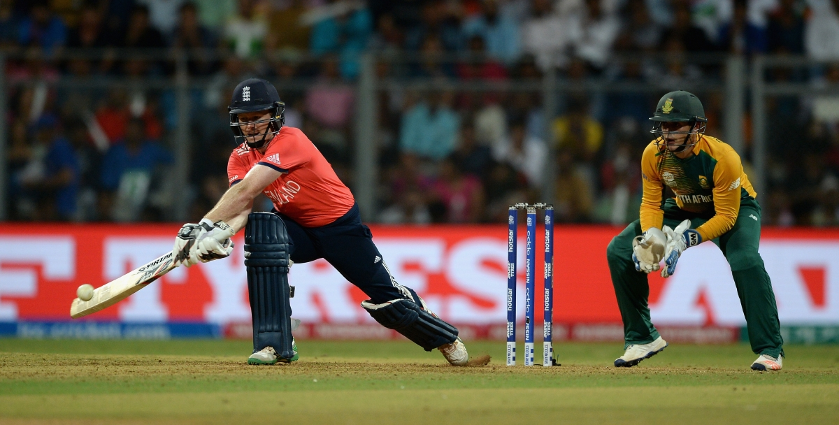 Eoin Morgan struggled to find the boundary