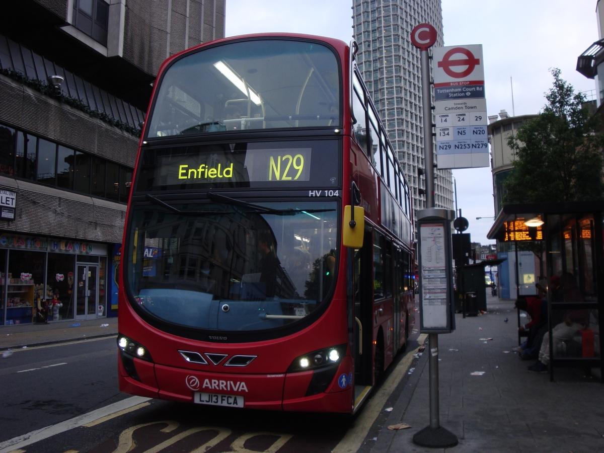 Enfield N29 bus