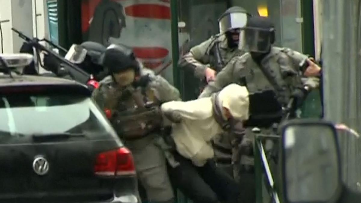 Salah Abdeslam shot and captured in Brussels