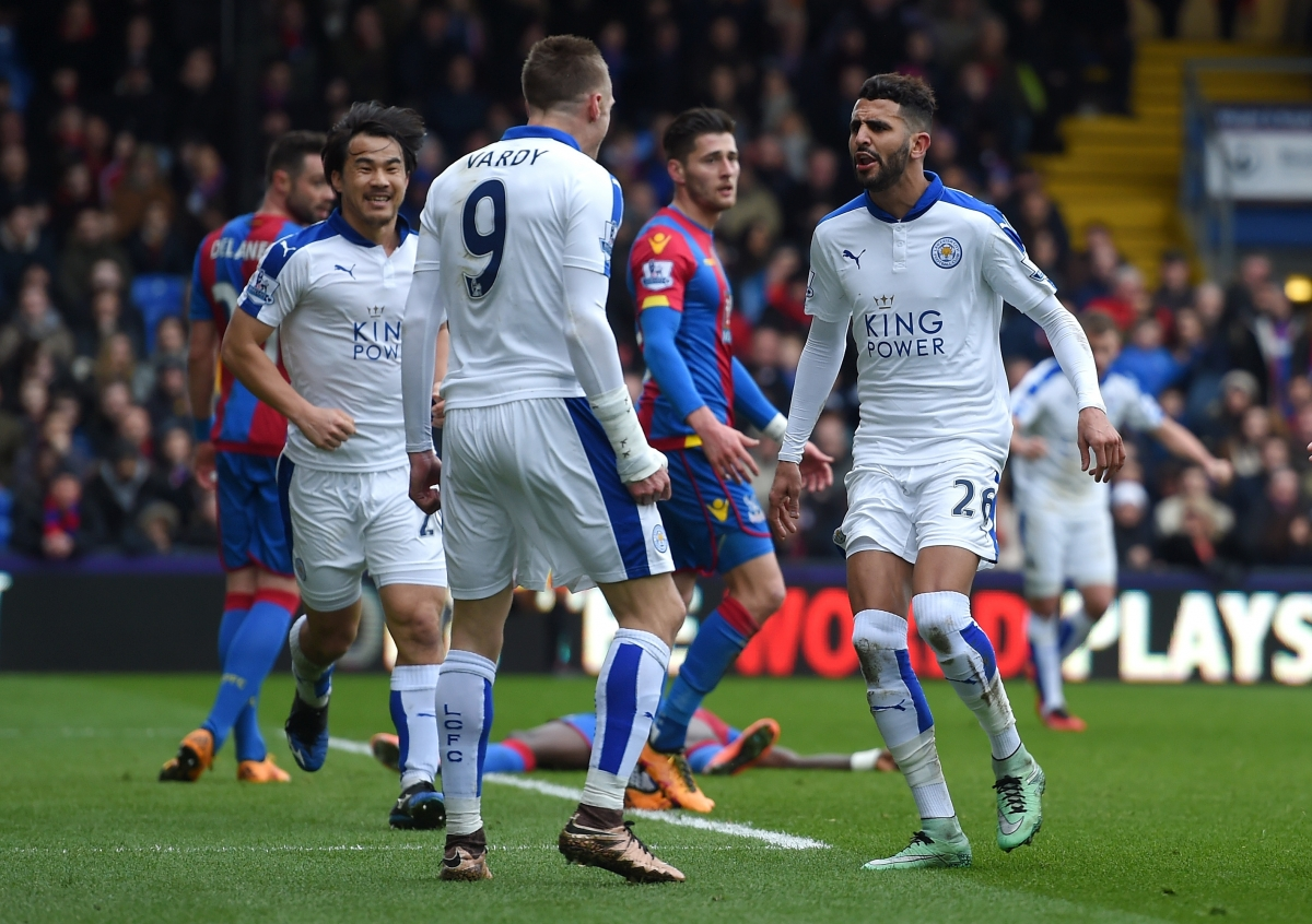 Riyad Mahrez scored for the Foxes