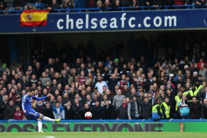 Cesc finds the net for Chelsea