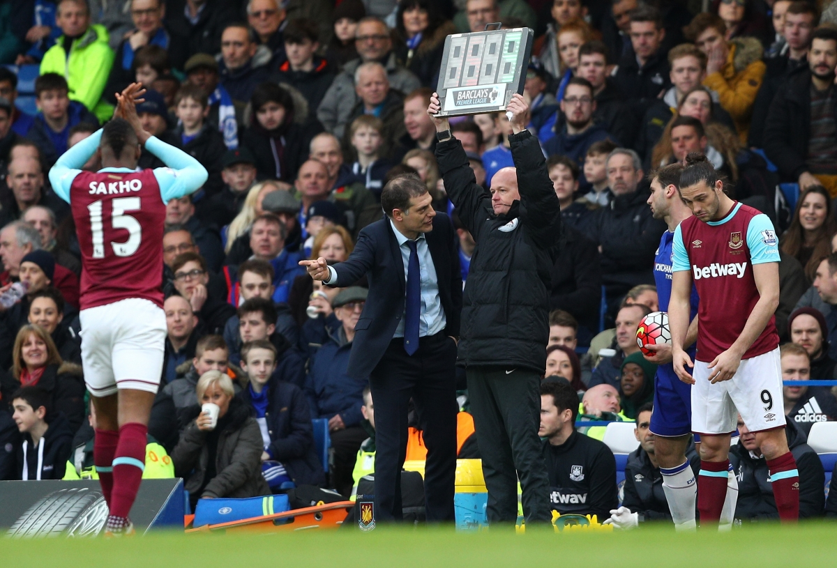 Andy Carroll is introduced as a sub