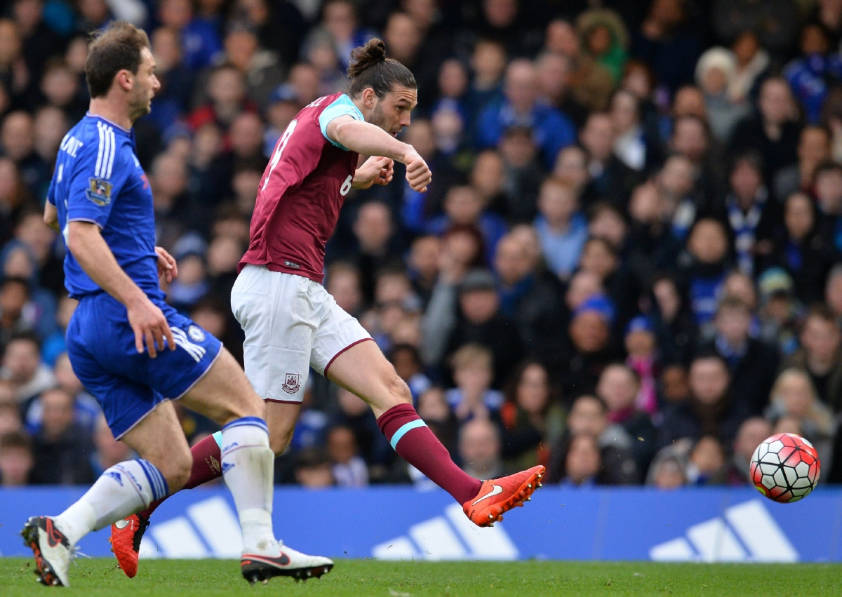 Andy Carroll finds the net