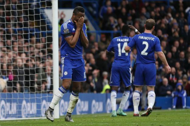 John Obi Mikel shows his frustration