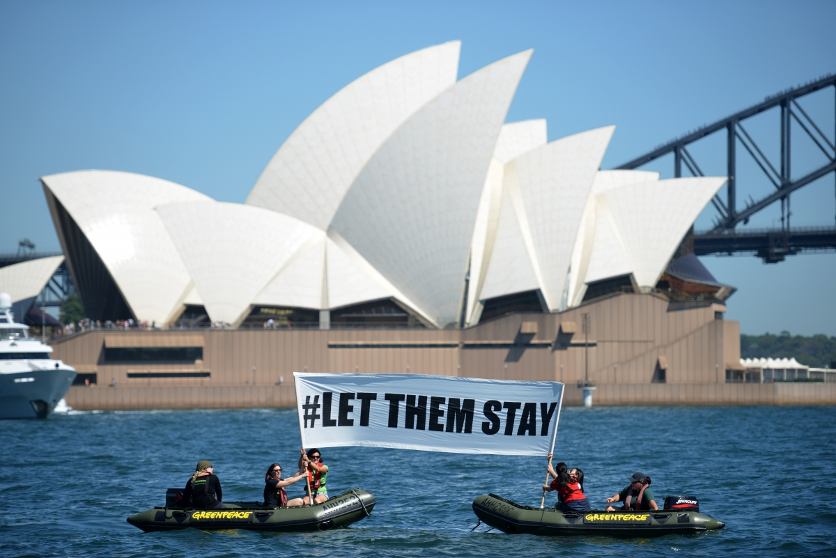 Nauru Island protest