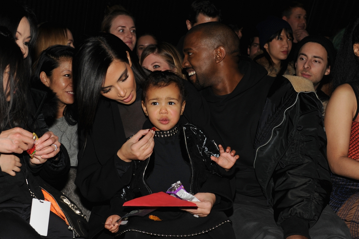 Kim, Kanye and North West