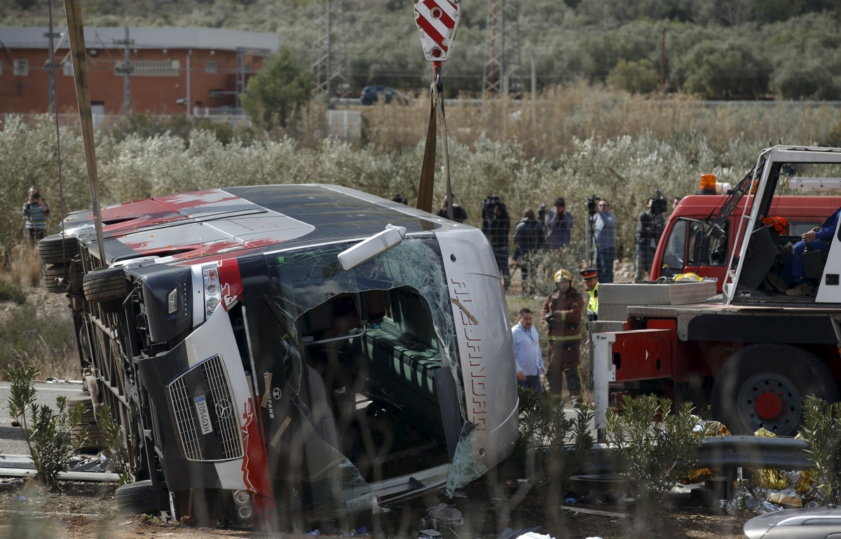 Spain bus crash