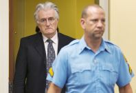 Karadzic is on trial in the Hagueaccused