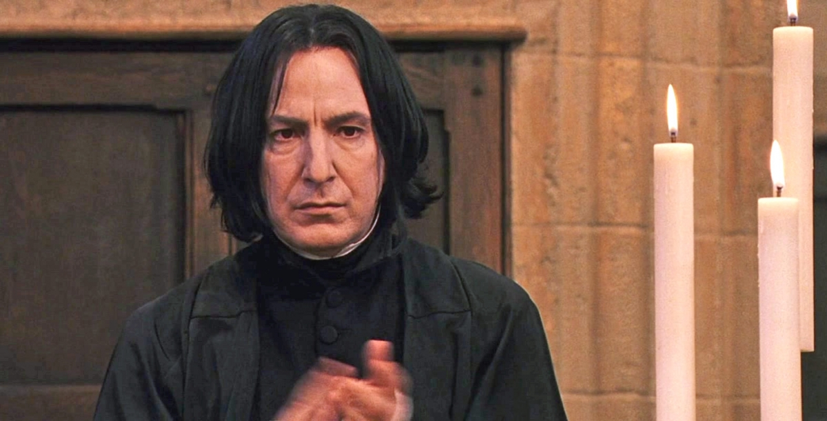 Severus Snape played by Alan Rickman