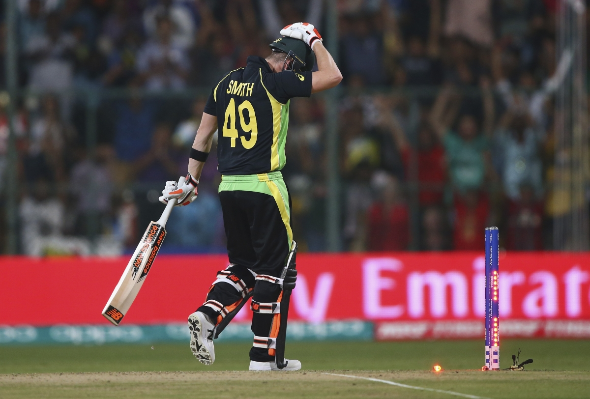 Steve Smith is bowled