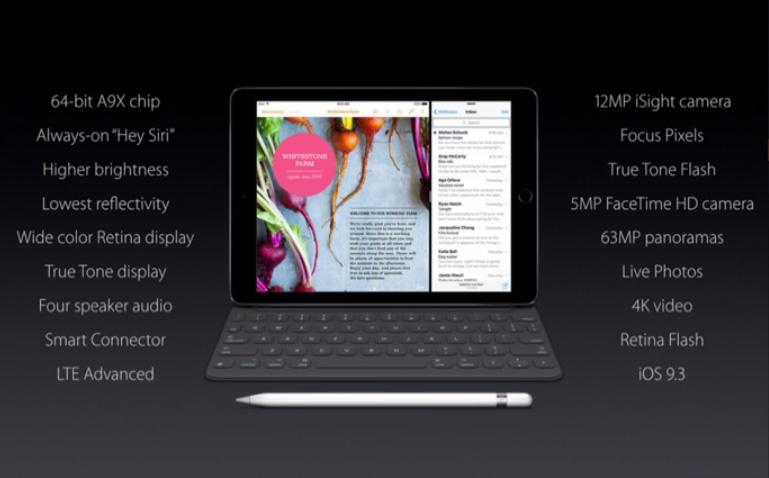 9.7in iPad Pro specs