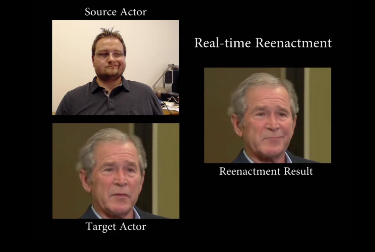 Face2Face face reenactment system