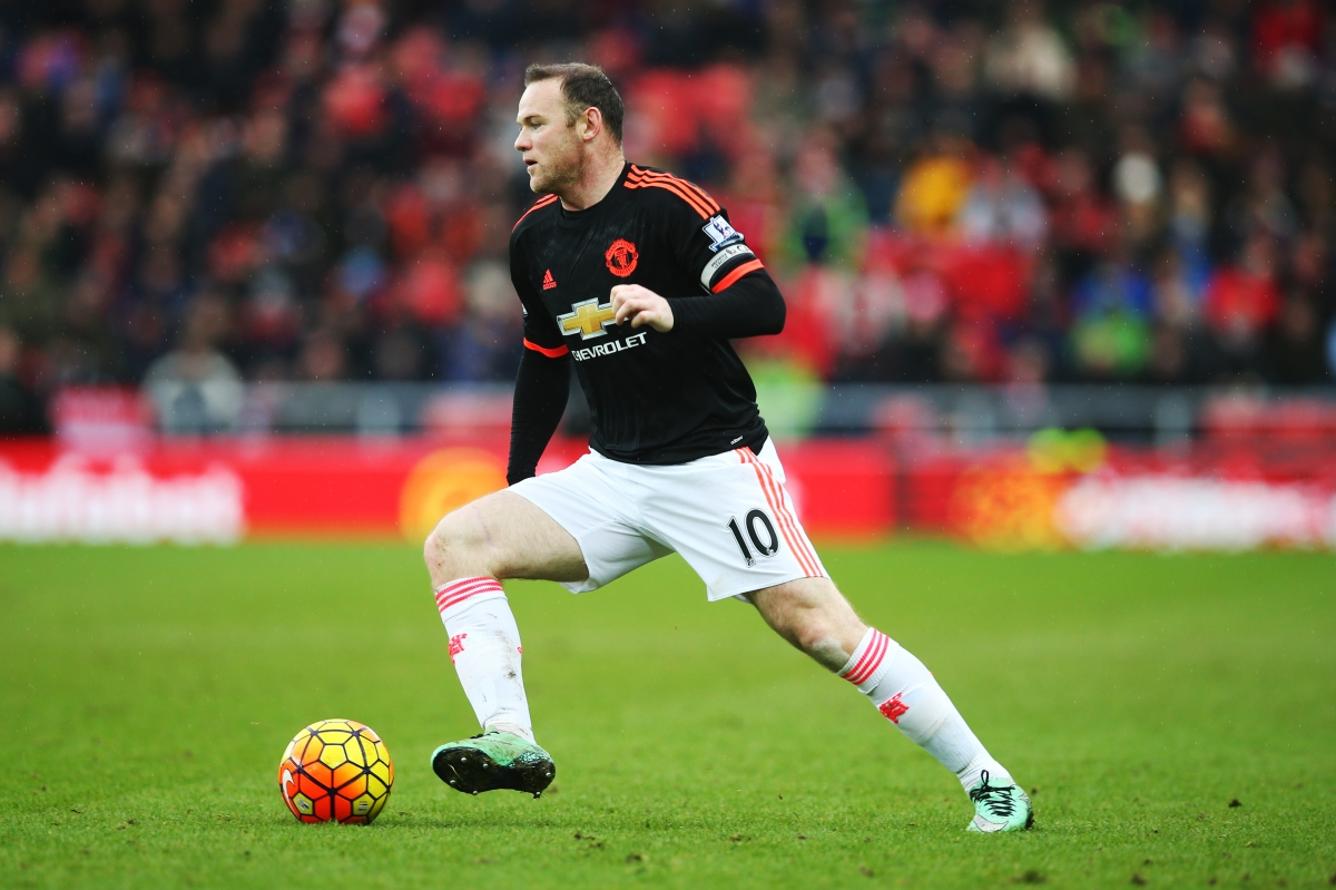 Wayne Rooney in action before his injury