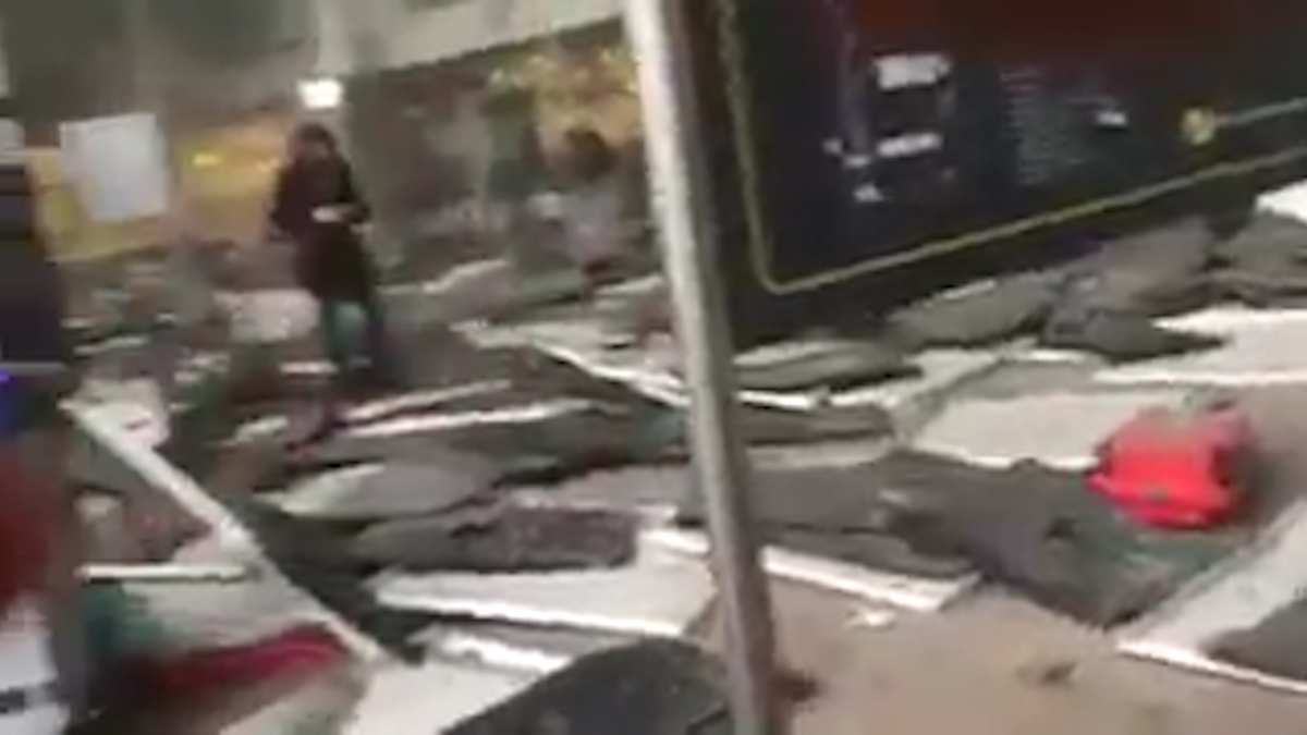 Brussels explosion aftermath