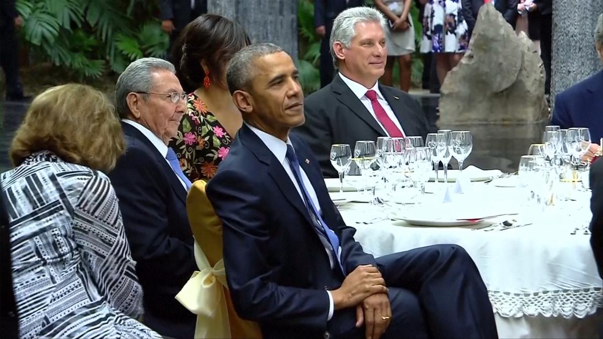 Barack Obama at Cuba State Dinner