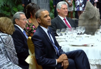 Barack Obama at Cuba State Dinner